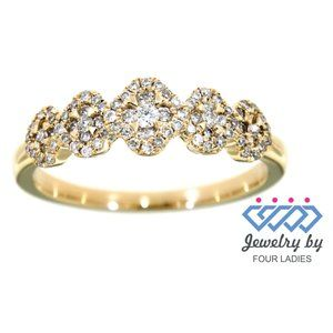 Natural Diamond Fancy Ring For Women Yellow Gold